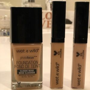 New! Wet & Wild Foundagion and two concealers